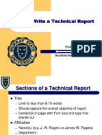How to write a technical report.ppt