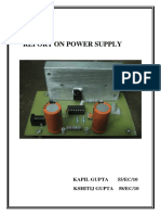 Report on Power Supply