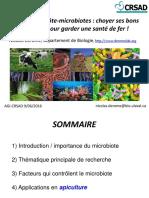Interactions Hote-microbiotes Choyer Ses Bons Microbes Pour Garder Une Sante de Fer