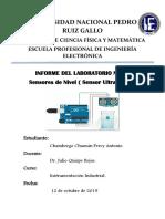 Lab01 - Sensor Ultrasónico