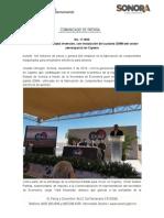 05-11-19 Impulsa Gobierno estatal inversión, con instalación de la planta IDMM del sector aeroespacial en Cajeme