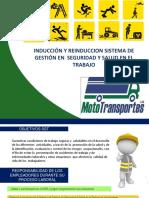 Cartilla Inducción Y-o Reinducción Sg-sst Soluciones - Mototransportes