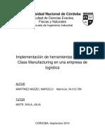 PROYECTO INTEGRADOR - Implementación de Herramientas de WCM en Una Empresa de Logística