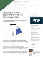 Samsung Implantará Pagamentos MPOS Em Dispositivos Móveis