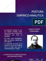 Intro Sesión 2 - Postura Empirico Analitica