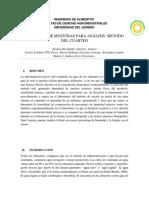 Informe Humedad. Lab Analisis de Alimentos