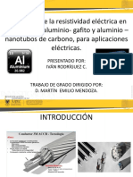 Evaluación de La Resistividad Eléctrica en Alambres De