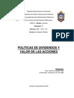 Finanzas II Politicas de Dividendos