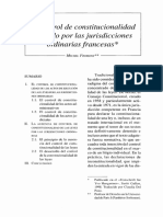 Control Constitucional en Francia - Fromont
