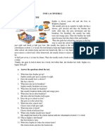 Unit 1 Activities 2 English
