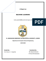 A Seminar Report on Machine Learining Converted