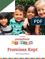 Preschool Promise annual report