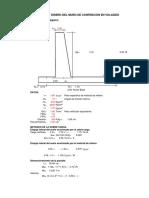MURO DE CONTENCION H=7.5, 5.7, 3.50 voladizo