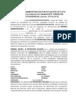 Modelo Contrato Administración de  Flota Solutransco.