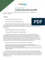 2 Parcial Derecho Internacional Privado UBP - Exámen