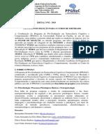 Edital Mestrado PPGNEC
