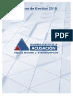 Informe de Gestión 2018 Fiscalía Regional Rosario
