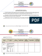 Monitoring and Evaluation Form