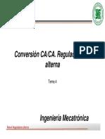TEMA 4 - CA CA -Regulador de Alterna y Cicloconvertidores
