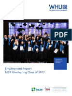 employment report of WHU MBA 2018 class