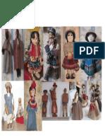 Collage de Las Primeras Muñecas en El Perú