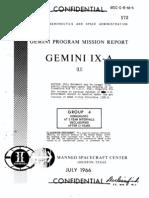 Gemini Program Mission Report Gemini Ix-A