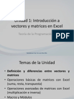 INTRODUCCIÓN VECTORES Y MATRICES