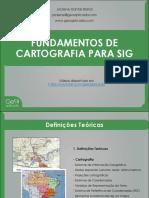 Fundamentos de Cartografia Para SIG