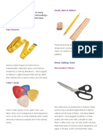 Dressmaking Tools