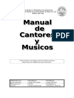 Ejemplo de Manual de cantores y músicos. Jesucristo es mi vida.