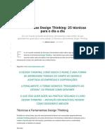 Ferramentas Design Thinking