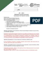 Ap1 Gabarito2018 1 Unirio