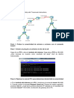 Solucion Ejercicio 11.3.2.2 Test Connectivity With Traceroute Instructions