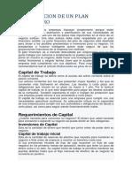 Elaboración de un Plan Financiero