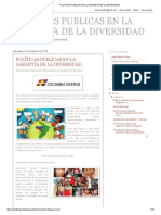 Blog Políticas Publicas en La Garantía de La Diversidad
