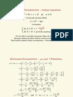 równanie 2-stopnia – analiza matematyczna (bez jednostki urojonej)