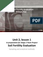 Soil fertility evaluation