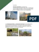 Contaminacion Del Aire o Atmosfera y Tipos