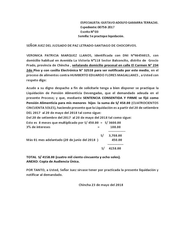 Practica De Liquidación Veronica Marquez