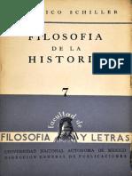 Schiller, Friedrich. - Filosofia de La Historia [1956]