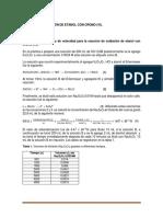 Informe 8 - Cinética de Oxidación de Etanol Con Cromo (Vi) Ospina-Vasquez