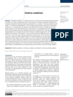 Palliative sedation