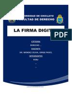 LA FIRMA DIGITAL Y ASPECTOS GENERALES