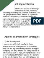 Apple market segmentation and Mix