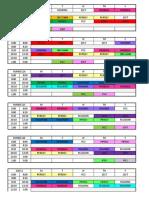 Schedule 2nd Sem 2019