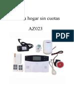 Manual Alarma Hogar AZ023