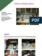 orceina acetica preparacion