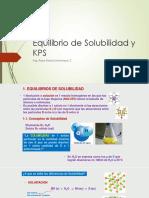 Equilibrio de Solubilidad y KPS