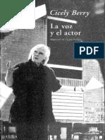La Voz y El Actor - Cicely Berry