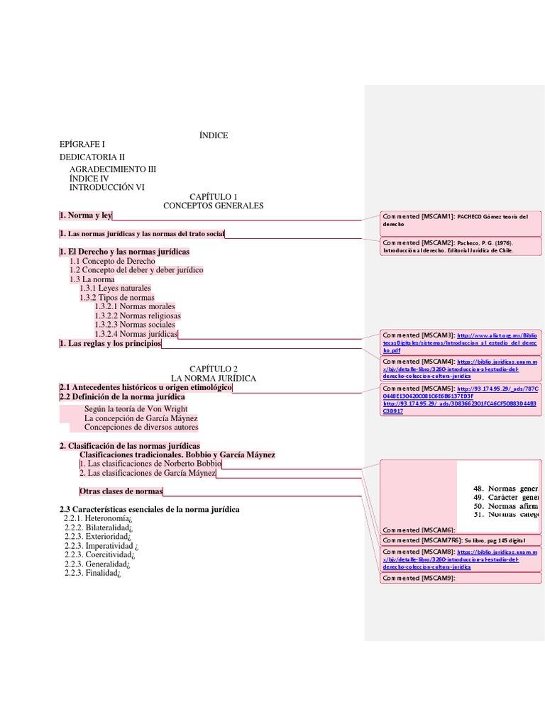 índice Intro Al Derecho Docx Información Del Gobierno
